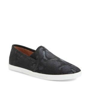 NEW Joie Kidmore Python Print Black Sneakers
